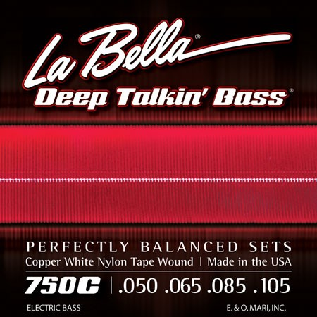 La Bella Bass Copper While Nylon W. 50-105