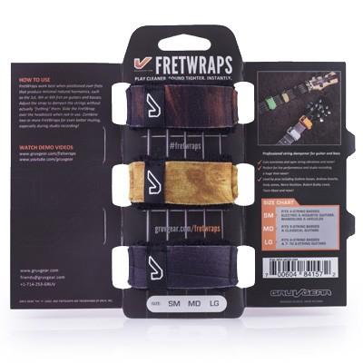 Gruv Gear FretWraps Wood 3 Pack SM