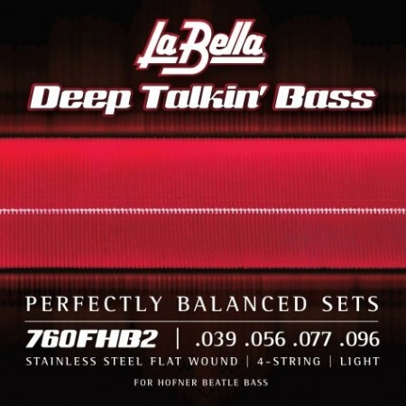 "LaBella 760FHB2 ""Beatle"" Bass Stainless Flats 39-96"