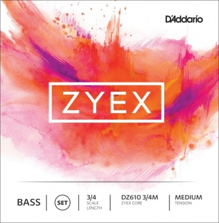 D´Addario Zyex bass set DZ610 3/4 medium