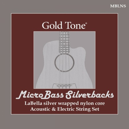 MicroBass LaBella ´Silverback´ Silver-Wrapped Nylon Strings