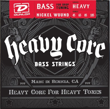 Dunlop Heavy Core 45-105 Bass strings