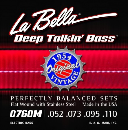 LaBella 0760M Bass Set Bass Deep Talkin´ Bass 1954 Stainless Steel Flat Wound