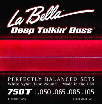 La Bella 750T White Nylon Tapewound Bass Strings Light 50-105
