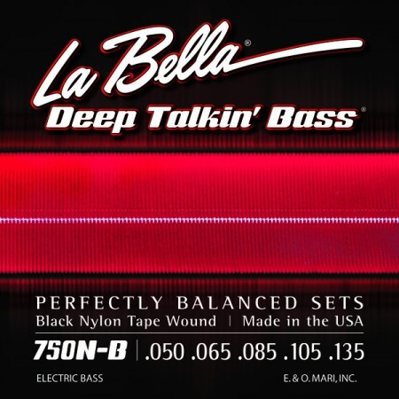 La Bella 760N-B Black Nylon Tape, 5-String, Light