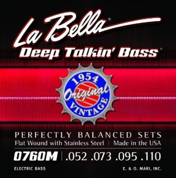 LaBella 0760M Deep Talkin' Bass, 1954 Stainless Steel Flat Wound