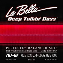LaBella 750N-B Bass Deep Talkin´ Bass Black Nylon Tape Wound